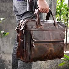 Genuine Leather Antique Design Business Briefcase Laptop ...
