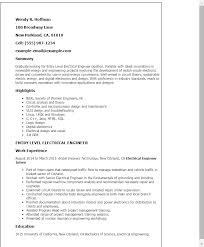 Sample Resume For Freshers Engineers Doc