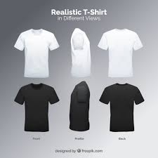 <b>Men's t</b>-<b>shirt</b> in different views with realistic <b>style</b> Vector | Free ...