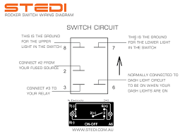 stedi blog how to wire led rocker switch 5 pin rocker switch diagram