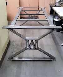 Modern Steel Furniture Modern Industrial Dining Table Legs With Builded Steel Furniture
