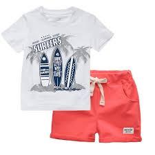 Boys Clothes Summer <b>Children Short Sleeve</b> T Shirt Pants Girl ...