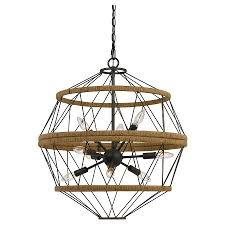 cal lighting ozark metalburlap chandelier iron cal lighting wood chandelier