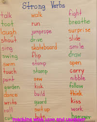 best images about strong verbs th grade writing 17 best images about strong verbs 4th grade writing anchor charts and writing ideas