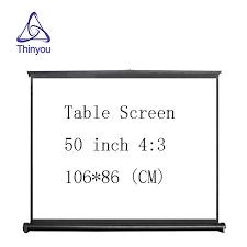 <b>Thinyou</b> 50 inch 4:3 <b>Portable</b> Mini Projector Table Screen <b>Easy</b> ...