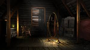 Image result for scary attic door