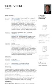 office secretary resume samples   visualcv resume samples databasesecurity officer foreman   office secretary resume samples