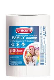 """Полотенца <b>бумажные Unicum</b> """"Family-Master"""", 500 шт — купить в ..."""