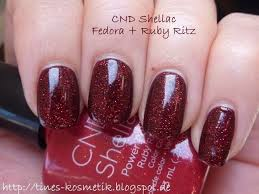 <b>CND Shellac</b> Layering: <b>Fedora</b> + Ruby Ritz