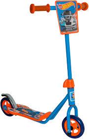 <b>1TOY Самокат двухколесный</b> Hot Wheels цвет оранжевый голубой