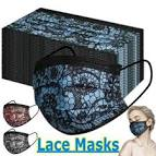 <b>Fashion Lace Reusable</b> Breathable Disposable Protection Face ...