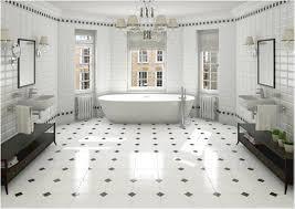 white bathroom floor:  stylish ideas black and white bathroom floor tile excellent black and white wall tiles kitchen kitchen