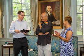 princeton writes essay contestants f ecirc ted from left princeton writes director john weeren honorable mention recipient brian mondschein and