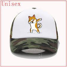 Funny Shiba Inu <b>Dabbing sun</b> hats for women summer hats for ...