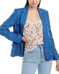 Zadig & Voltaire Womens Victor Jacket, 36, Blue ... - Amazon.com