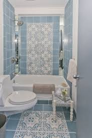 blue bathroom tile ideas: bathroom modern blue nuance of the vintage bathrooms that has blue tiles can add the beauty inside the modern house design ideas with modern lamp inside the
