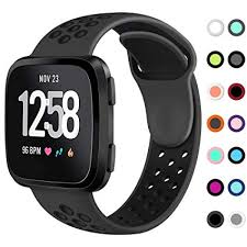 KIMILAR <b>Sport Bands</b> Compatible Fitbit Versa, <b>Silicone</b> Breathable ...