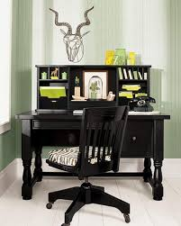 drop dead gorgeous home office decorating themes decoration using black wood wheel computer chair including black wood desk and light green home office wall awesome green office chair