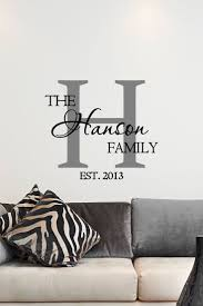 sun wall decal trendy designs: custom family name amp monogram vinyl decal monogram vinyl wall art decal family name