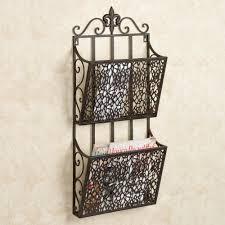 de lis bath accessories fleur de lis double wall magazine rack espresso