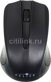 <b>Мышь OKLICK 485MW</b>, <b>беспроводная</b>, USB, черный, отзывы ...