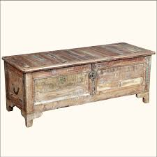 room vintage chest coffee table: vintage steamer trunk banded travel chest coffee table blanket box