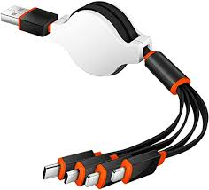 Amazon.com: Multi USB Charging Cable 2 Pack Retractable <b>4 in 1</b> ...