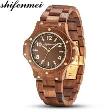<b>Shifenmei Mens</b> Watches Top Brand Luxury <b>Male</b> Watch <b>Wood</b> ...