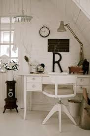 small home office shabby chic attic from hvitur lakkrs chic home office office