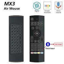 MX3 MX3 L Backlit Air <b>Mouse</b> T3 <b>Smart</b> Voice Remote Control 2.4G ...