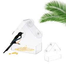 <b>Кормушка для птиц</b> акриловая <b>прозрачная</b> коробка для еды ...