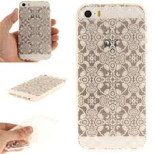 Cover Case for iPhone 5S/SE White Lace Soft Clear IMD TPU ...