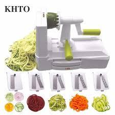 KHTO 5-Blade Овощной спиральный слайсер резак мандолина ...
