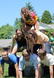 work at camp shady side academy ssa summer positions camp counselors from shady side academy building a human pyramid