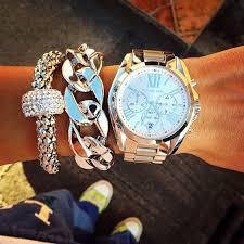 Michael kors watch and silver accessories | <b>Часы michael</b> kors ...