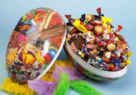 Bildresultat för stort påskägg med godis