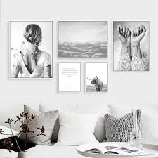 <b>Nordic Canvas Poster</b> Abstract Frameless Wall Art Canvas Painting ...