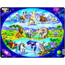 """<b>Пазл</b> """"<b>Планета животных</b>"""" <b>Larsen</b> NM6 - купить в интернет ..."""