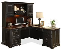 stunning l shaped desk with hutch for office or home office furniture ideas black l black home office chairs