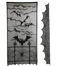 2Pcs Curtain and Tablecloth <b>Halloween Theme</b> Durable Practical ...