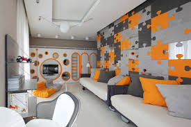 f awesome boys room paint ideas with colorful puzzle wallpaper and cool white pendant lighting 1200x800