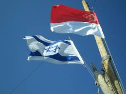 Image result for Singapore ISRAELI FLAG