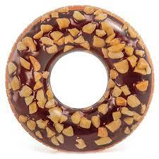 Купить <b>надувной круг Intex</b> Пончик шоколадно-ореховый 114см 9 ...