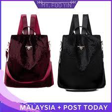 Ready Stock Malaysia <b>Women's</b> Two Way Casual Backpack <b>travel</b> ...