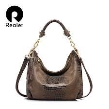REALER <b>women handbag</b> strap <b>genuine leather</b> crossbody ...