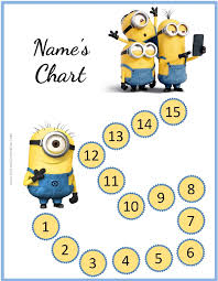 behavior charts the minions sticker chart customize