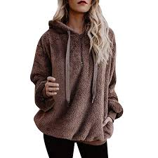 HOSOME <b>Women Hoodie Sweatshirt</b> Warm Fluffy <b>Winter</b> Top Ladies ...