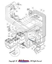 battery wiring diagram for 48 volt club car golf cart wiring diagram 1988 club car 36 volt wiring diagram schematics and diagrams