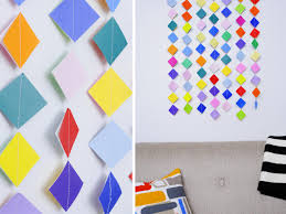 decorating ideas wall art decor:  original michelle edgemont colorful paper garland beauty collage hjpgrendhgtvcom