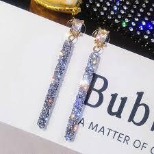 Online Shop <b>FYUAN</b> Fashion <b>Long Tassel</b> Crystal Earrings for ...